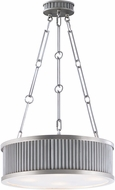 Maxim 26025WZSN Ruffle Weathered Zinc and Satin Nickel Drum Pendant Lighting Fixture