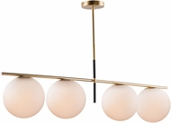 Maxim 26036SWSBRBK Vesper Contemporary Satin Brass / Black Island Light Fixture
