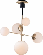 Maxim 26037SWSBRBK Vesper Modern Satin Brass / Black Mini Ceiling Chandelier