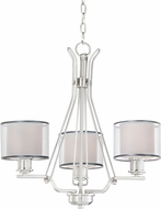 Maxim 26043SWWOSN Bon Ton Satin Nickel Mini Lighting Chandelier