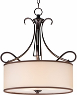 Maxim 26044SWCOOI Bon Ton Oil Rubbed Bronze Drum Drop Lighting Fixture