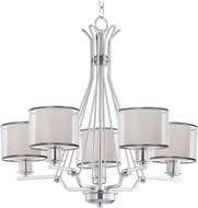 Maxim 26045SWWOSN Bon Ton Satin Nickel Chandelier Light