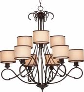 Maxim 26047SWCOOI Bon Ton Oil Rubbed Bronze Chandelier Lamp