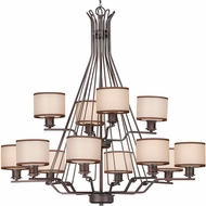 Maxim 26047SWCOOI Bon Ton Oil Rubbed Bronze Ceiling Chandelier