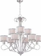 Maxim 26047SWWOSN Bon Ton Satin Nickel Chandelier Light