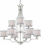 Maxim 26047SWWOSN Bon Ton Satin Nickel Hanging Chandelier