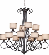 Maxim 26048SWCOOI Bon Ton Oil Rubbed Bronze Ceiling Chandelier