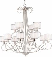 Maxim 26048SWWOSN Bon Ton Satin Nickel Hanging Chandelier