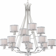 Maxim 26048SWWOSN Bon Ton Satin Nickel Chandelier Lighting