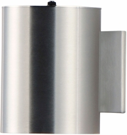 Maxim 26101ALPHC Outpost Contemporary Brushed Aluminum LED Exterior 7  Lighting Sconce