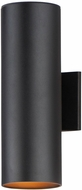 Maxim 26103BK Outpost Contemporary Black Exterior 15 Lighting Wall Sconce