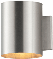 Maxim 26106AL Outpost Contemporary Brushed Aluminum Outdoor Wall Light Fixture