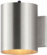 Maxim 26106AL/PHC Outpost Contemporary Brushed Aluminum Outdoor Lamp Sconce