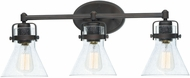Maxim 26113CDOI Seafarer Modern Oil Rubbed Bronze 3-Light Bathroom Wall Light Fixture