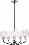 Maxim 26125CLBKSN Goblet Contemporary Black / Satin Nickel Mini Lighting Chandelier