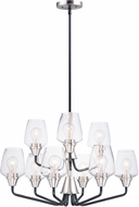 Maxim 26127CLBKSN Goblet Contemporary Black / Satin Nickel Chandelier Light
