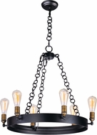 Maxim 26273BKNAB Noble Contemporary Black / Natural Aged Brass Chandelier Light