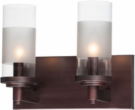 Maxim 26322CLFTOI Crescendo Contemporary Oil Rubbed Bronze 2-Light Bathroom Light Fixture