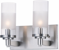 Maxim 26322CLFTSN Crescendo Modern Satin Nickel 2-Light Bathroom Vanity Lighting