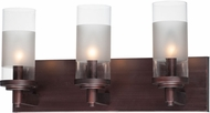 Maxim 26323CLFTOI Crescendo Contemporary Oil Rubbed Bronze 3-Light Bathroom Vanity Light