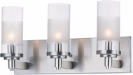 Maxim 26323CLFTSN Crescendo Modern Satin Nickel 3-Light Bathroom Sconce