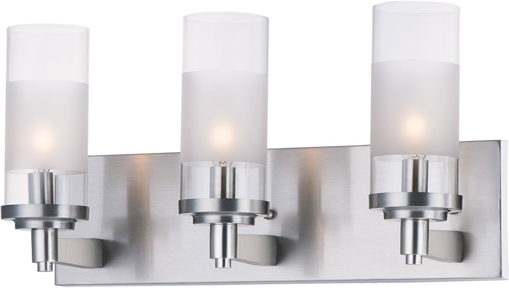 Maxim 26323clftsn Crescendo Modern Satin Nickel 3 Light