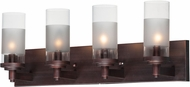 Maxim 26324CLFTOI Crescendo Contemporary Oil Rubbed Bronze 4-Light Bath Sconce