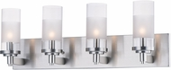 Maxim 26324CLFTSN Crescendo Modern Satin Nickel 4-Light Vanity Light Fixture