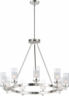 Maxim 26327CLFTSN Crescendo Modern Satin Nickel Chandelier Light