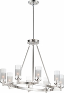 Maxim 26328CLFTSN Crescendo Modern Satin Nickel Hanging Chandelier
