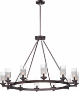 Maxim 26329CLFTOI Crescendo Contemporary Oil Rubbed Bronze Chandelier Light