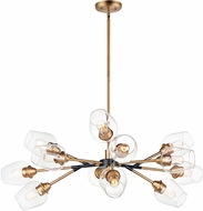 Maxim 26347CLABBK Savvy Modern Antique Brass / Black Ceiling Chandelier
