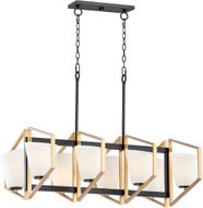 Maxim 26358SWGLDBK Oblique Modern Gold / Black Island Lighting