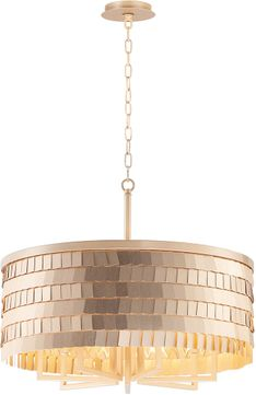 Maxim 26366CHPGLD Glamour Champagne / Gold Drum Hanging Light