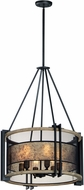 Maxim 27565BKBWAB Boundry Modern Black / Barn Wood / Antique Brass Drum Hanging Light