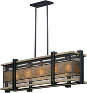 Maxim 27567BKBWAB Boundry Contemporary Black / Barn Wood / Antique Brass Island Light Fixture