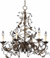 Maxim 2851OI Elegante Oil Rubbed Bronze 26.5  Chandelier Lamp