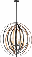 Maxim 28675BKGLD Radial Contemporary Black / Gold Entryway Light Fixture