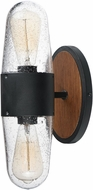Maxim 30012CDAPBK Lido Contemporary Antique Pecan / Black Exterior Wall Light Fixture