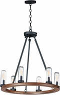 Maxim 30016CDAPBK Lido Contemporary Antique Pecan / Black Exterior Chandelier Lighting