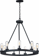 Maxim 30019CDBK Lido Modern Black Outdoor Chandelier Light
