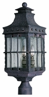 Maxim 30080CDCF Nantucket Traditional Country Forge 8.5 Wide Outdoor Post Lamp