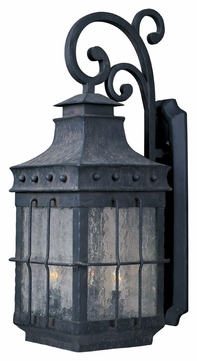 Maxim 30084CDCF Nantucket Traditional Country Forge 8.5 Wide Outdoor Wall Sconce Lighting