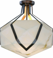 Maxim 30140BZGTGLD Boulder Modern Bronze Gilt and Gold LED Ceiling Light Fixture