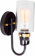 Maxim 30170CLBZGLD Magnolia Contemporary Bronze / Gold Wall Light Sconce