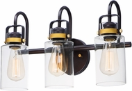 Maxim 30172CLBZGLD Magnolia Contemporary Bronze / Gold 3-Light Bathroom Vanity Light Fixture
