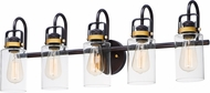 Maxim 30173CLBZGLD Magnolia Modern Bronze / Gold 5-Light Bathroom Wall Sconce