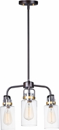 Maxim 30174CLBZGLD Magnolia Contemporary Bronze / Gold Mini Lighting Chandelier