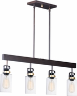 Maxim 30176CLBZGLD Magnolia Contemporary Bronze / Gold Kitchen Island Light Fixture