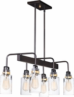 Maxim 30177CLBZGLD Magnolia Modern Bronze / Gold Island Lighting